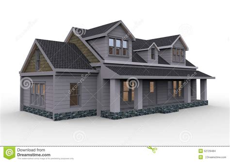 three dimensional house plans three dimensional house stock illustration image 52729484