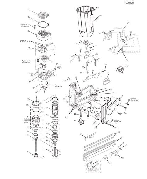 paslode framing nailer parts diagram buy paslode 900400 im250ii replacement tool parts