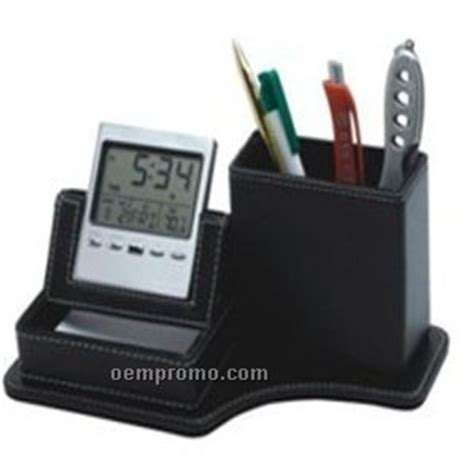 Executive Desk Organizer With Multi Function Clock China Executive Desk Organizer