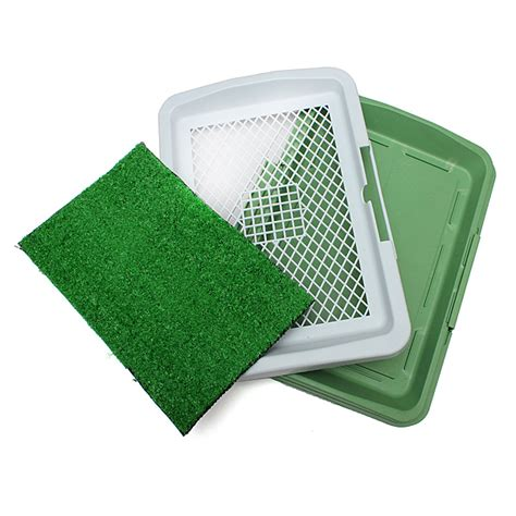 Potty Mat by 3 Layer Pet Potty Toilet Pad Tray Mat Grass