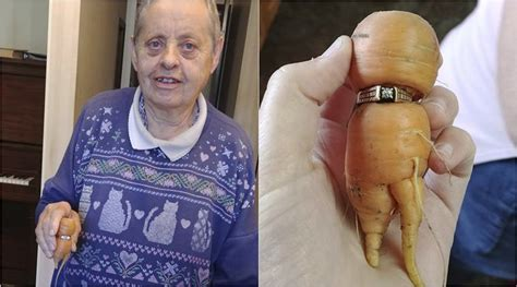 Wedding Ring In Carrot by Finds Lost Engagement Ring On A Carrot After 13