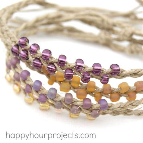 Hemp Braids - braided bead and hemp bracelets happy hour projects