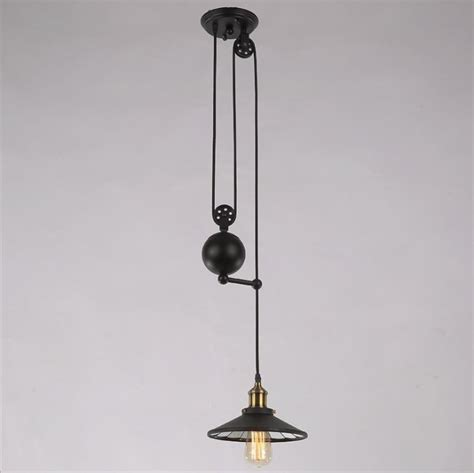 Pulley Ceiling Light Vintage Ceiling L Loft Pulley Reflector Hanging Light Pendant Chandelier Ebay