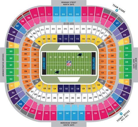 bank  america stadium seating chart favorite places