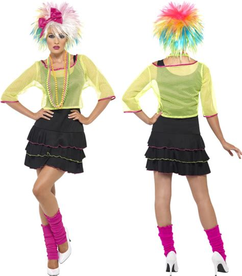 80s pop tart costume ladies pop tart 1980s madonna fancy dress costume neon