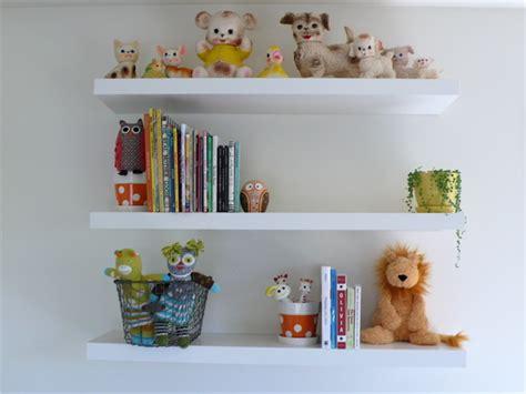 Simple White Modern Shelving For The Nursery Use Bookshelves For Baby Room
