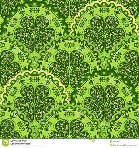 yellow vintage pattern green yellow vintage seamless pattern stock vector