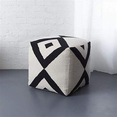 black and white ottoman nuloom handmade casual living square black and white