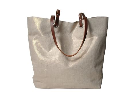 Totte Bag metallic linen tote bag bag on storenvy
