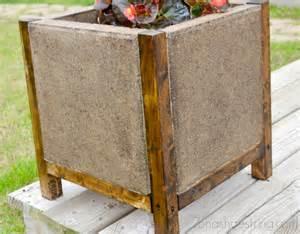 easy diy concrete paver planter