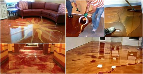 exciting  trend metallic epoxy floor   glossy elegance diy crafts