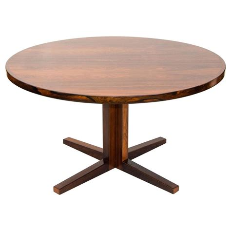 round dining room table with leaves danish rosewood round pedestal dining table one leaf at