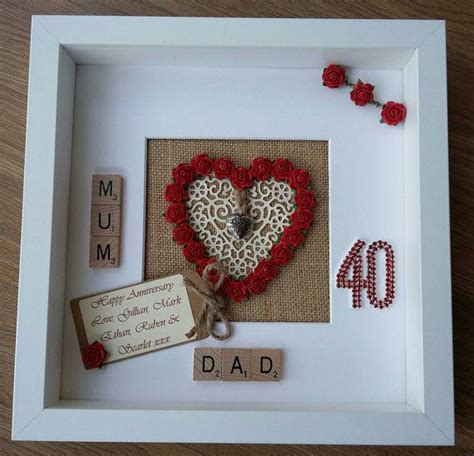 Wedding Anniversary Gift Items by Best 25 Ruby Wedding Anniversary Gifts Ideas On