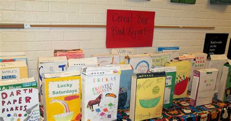 cereal box book report sles mrs grayson s garden cereal box book reports