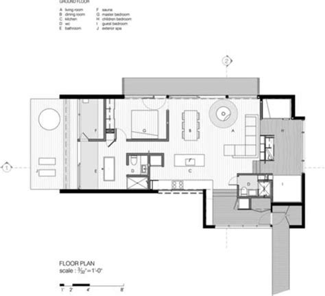 compact modern house design transforming to accomodate guests