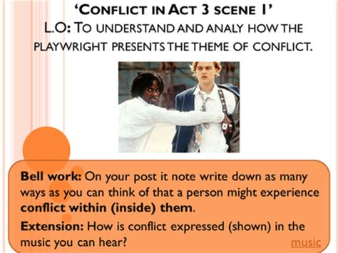 macbeth act 5 scene 1 ofsted outstanding lesson by conflict in act 3 scene 1 of romeo juliet by