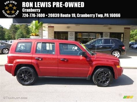 red jeep patriot 2008 red crystal pearl jeep patriot sport 115720575