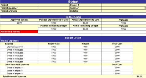 Excel Project Budget Mba by Simple Project Management Template Excel Free Excel Tmp