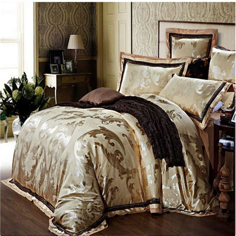 gold comforter sets queen gold satin jacquard quilt duvet comforter cover king queen