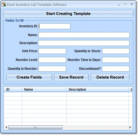 Excel Software Inventory Template excel inventory list template software