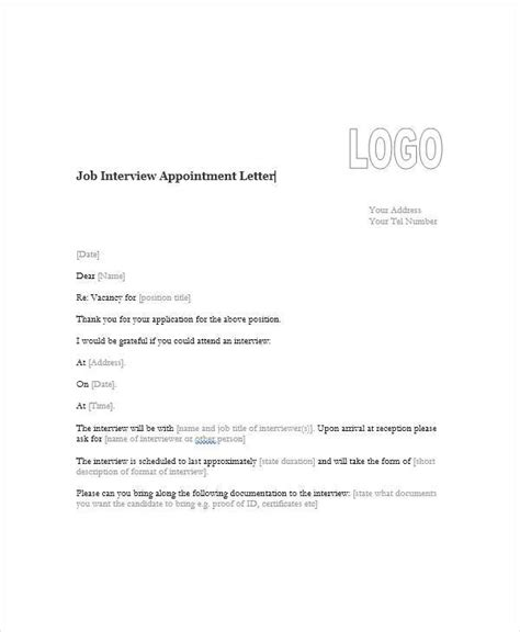 no show appointment letter template appointment letter format