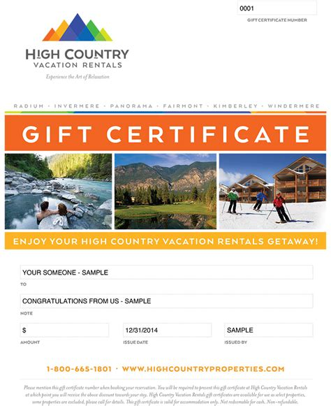 Homeaway Gift Card - gift cards high country vacation rentals