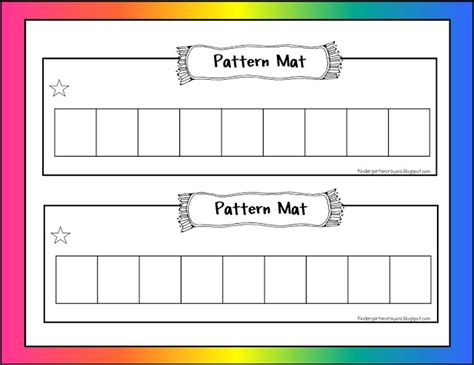 making patterns activities for kindergarten kindergarten crayons math mats not for the front door