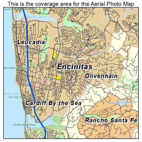 california map encinitas aerial photography map of encinitas ca california