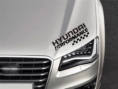 hyundai performance sticker black indecalscom