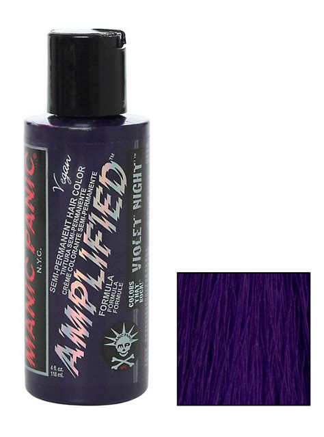 manic panic ultra violet hair dye hot topic manic panic amplified semi permanent violet night hair dye