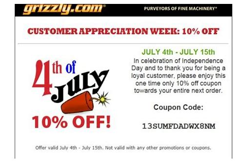 grizzly power tools coupons