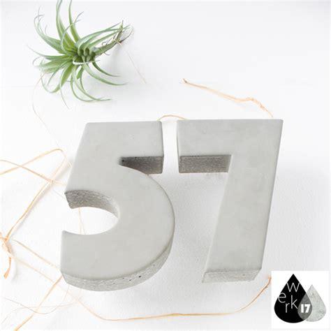 beton hausnummer beton hausnummern beton optik hausnummern aus beton