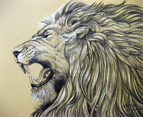 lion roaring tattoo roaring on king small