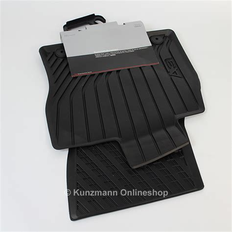 audi a3 8v car rubber floor mats original black