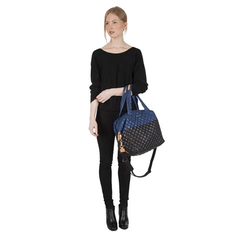 mz wallace mz wallace sutton black and navy colorblock oxford in blue lyst
