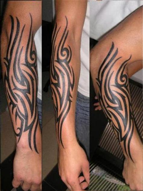 tribal tattoos on forearm for men arm tribal tattoos for 01