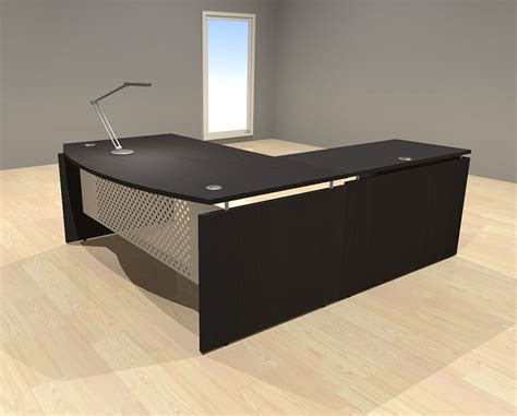 Modern L Shaped Office Desk 3pc L Shape Modern Contemporary Executive Office Desk Set Al Sed L5 Ebay