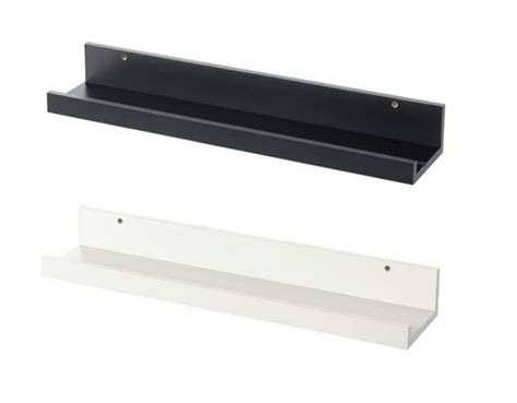 book ledge ikea ikea picture ledge 22 quot floating shelf black white spice