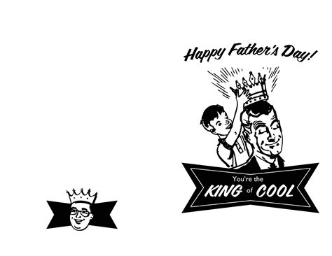 Cool Fathers Day Card Templates by King Of Cool S Day Card