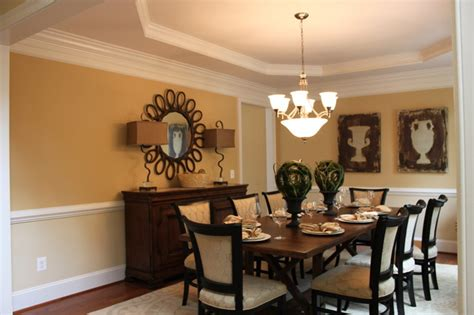 Clipped Ceiling Dining Room With Clipped Corners Tray Ceiling