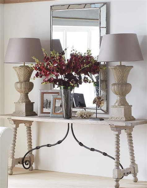 How To Style A Console Table Oka Styling A Sofa Table