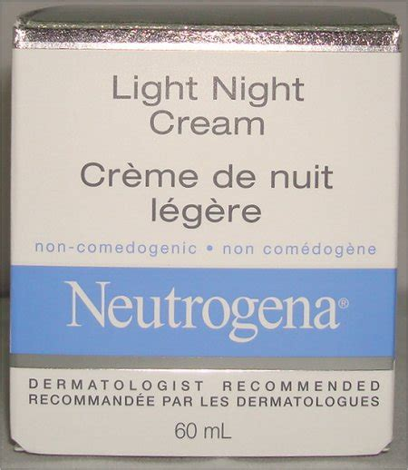 neutrogena light night cream neutrogena light night cream review pictures swatch