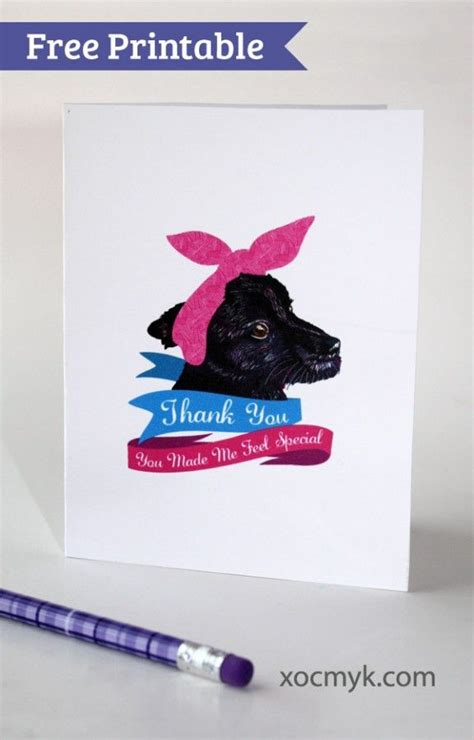 printable thank you cards dogs 17 images about free printables on pinterest gift tags