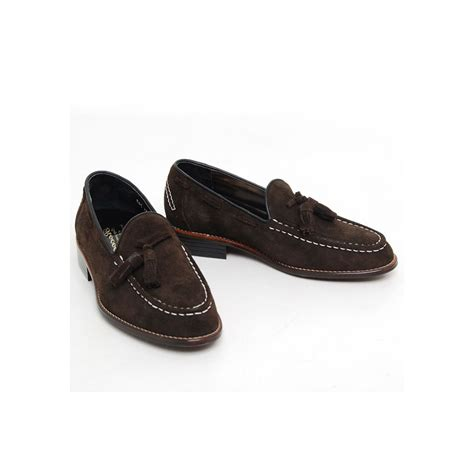 mens leather loafers with tassels images