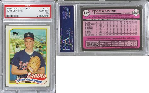 Sell Tiffany Gift Card - 1989 topps box set collector s edition tiffany 157 tom glavine psa 10 card ebay