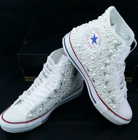 where can i buy bridal shoes bridal converse wedding converse bling pearls by