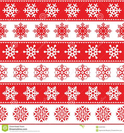 white xmas pattern winter christmas red seamless pattern with snowflakes
