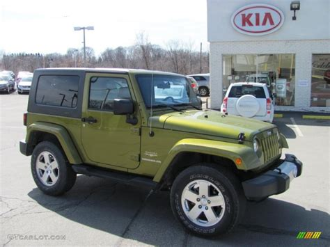 jeep wrangler green 2008 rescue green metallic jeep wrangler 4x4