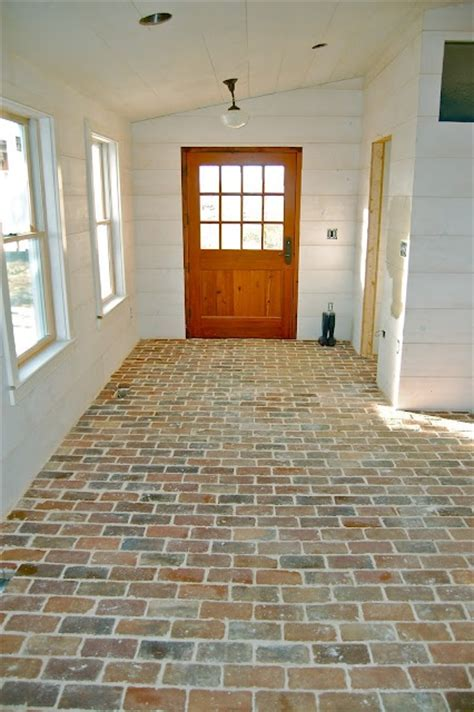 Brick Floors by Brick Flooring In The Mudroom For The Home