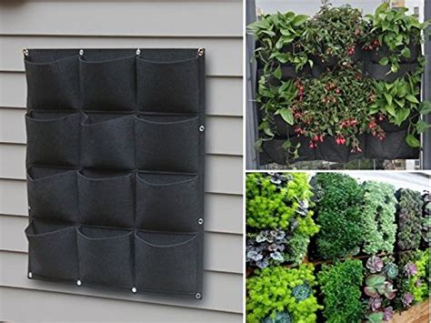Pocket Planters by 12 Planters Pocket Outdoor Hanging Vertical Planter Made From 100 Recycled Pet Ebay